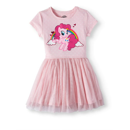 My Little Pony Foil Mesh Dress (Little Girls and Big Girls) - My Little Dress Up