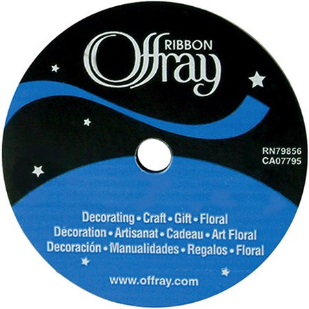 Offray Single Face Satin Ribbon, 5/8