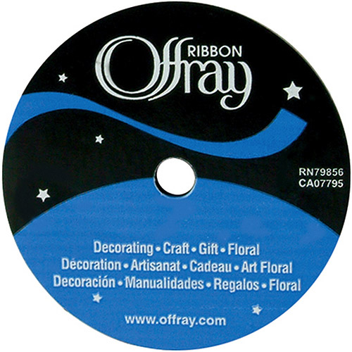 "Offray Single Face Satin Ribbon, 5/8"" x 18'"