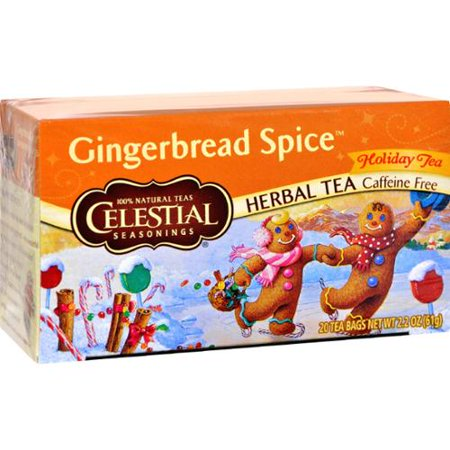 Gingerbread Spice (Celestial Seasonings Holiday Herbal Tea - Gingerbread Spice - Caffeine Free - Case of 6 - 20)