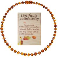 mommys touch 100% natural amber teething necklace (cognac)
