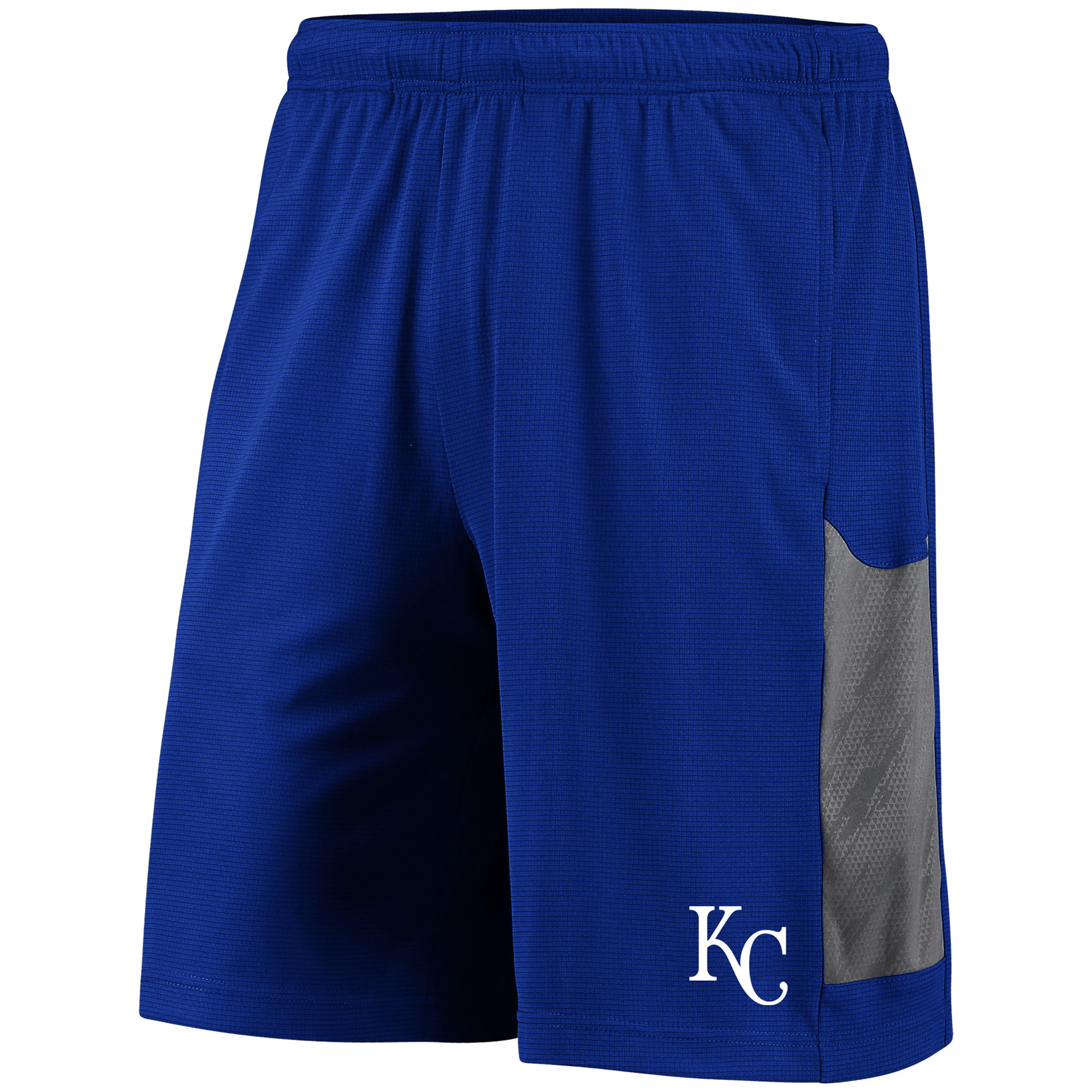 Men's Majestic Royal/Gray Kansas City Royals TX3 Cool Tech Shorts