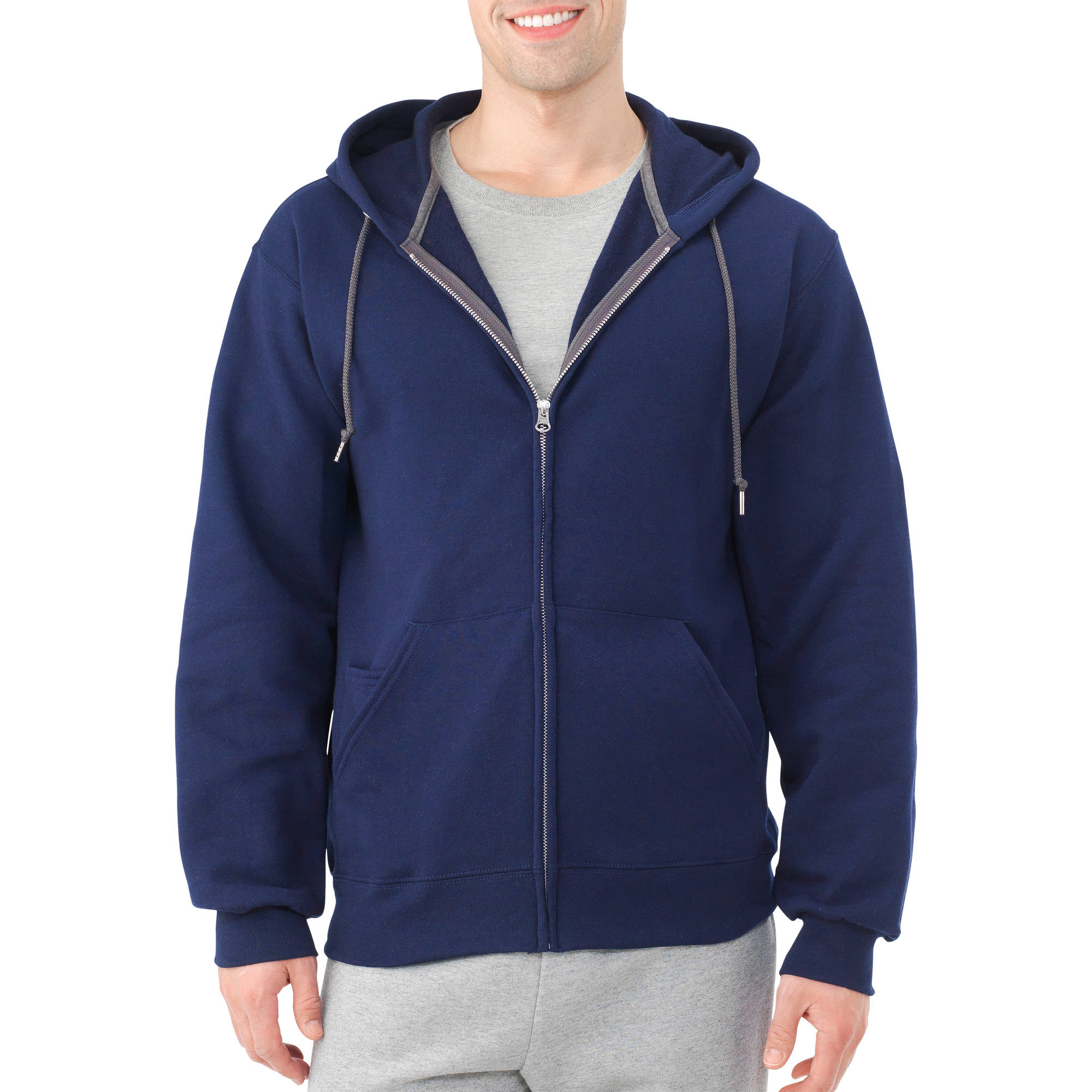 Fruit of the Loom Men's Dual Defense Fleece Full Zip Hooded Sweatshirt