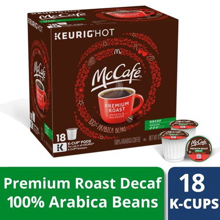 (McCafe Decaf Premium Roast Coffee K-Cup Pods 18 ct Box)