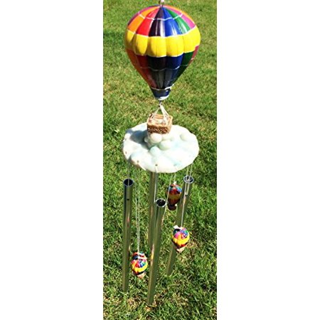 Up Air Balloon Aviation Dream Voyage Resonant Relaxing Wind Chime Patio Garden