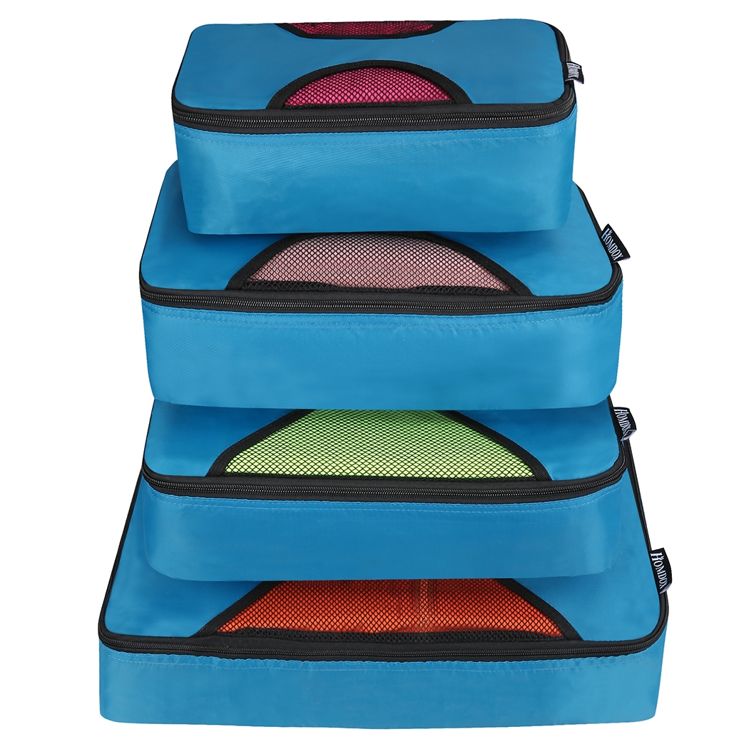 New Travel Packing Bag Cubes Set of 4 Pieces Organizer Bag Case SMT