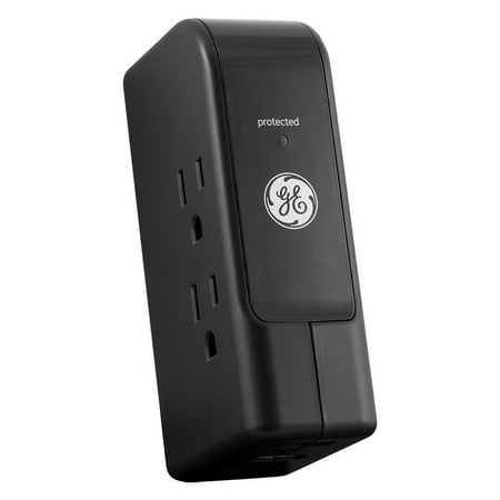 GE Travel Surge Protector w/ 3 Outlets & 2 USB Ports