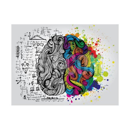 Creative Concept of the Human Brain, Vector Illustration Print Wall Art By Lisa Alisa