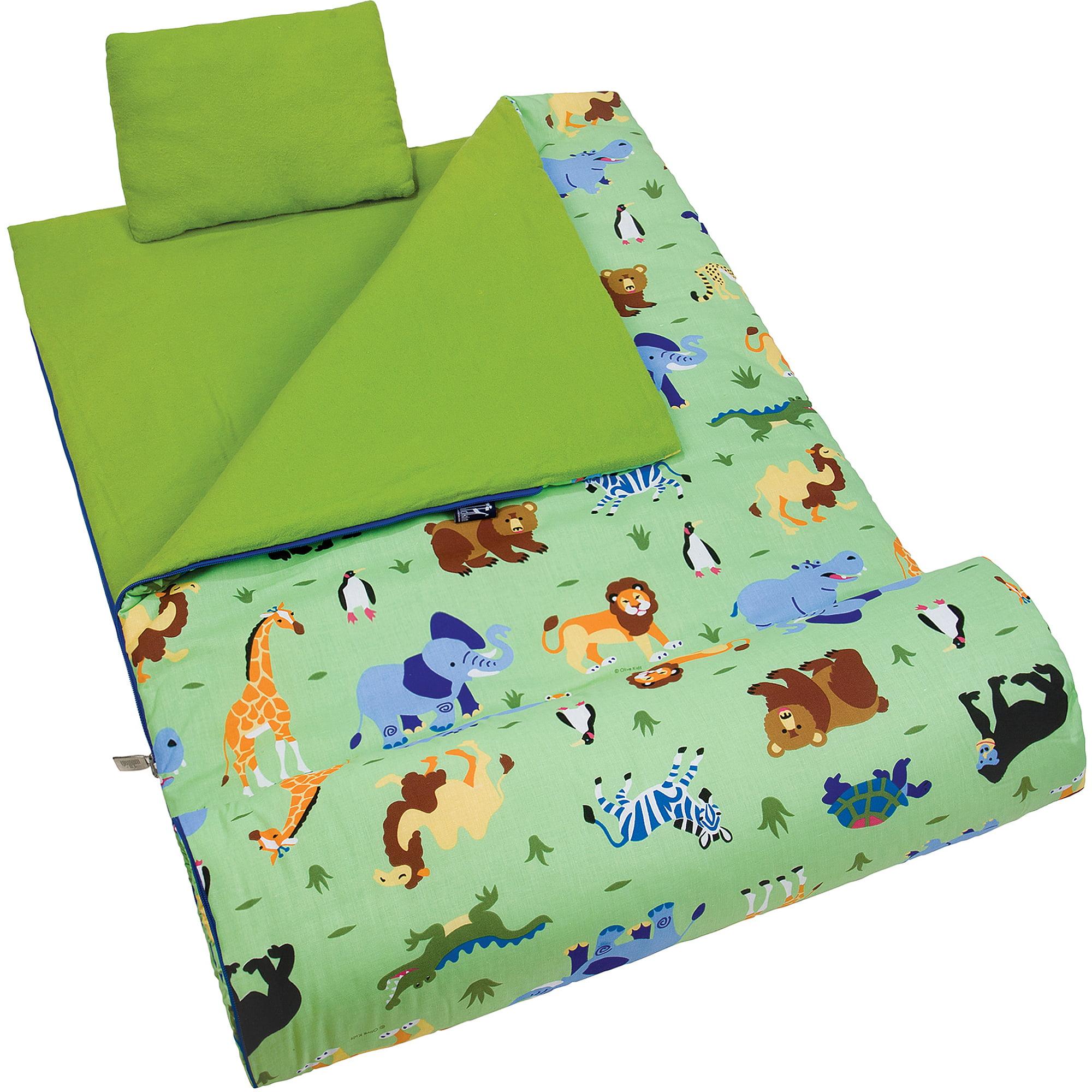 Olive Kids' Wild Animals Sleeping Bag