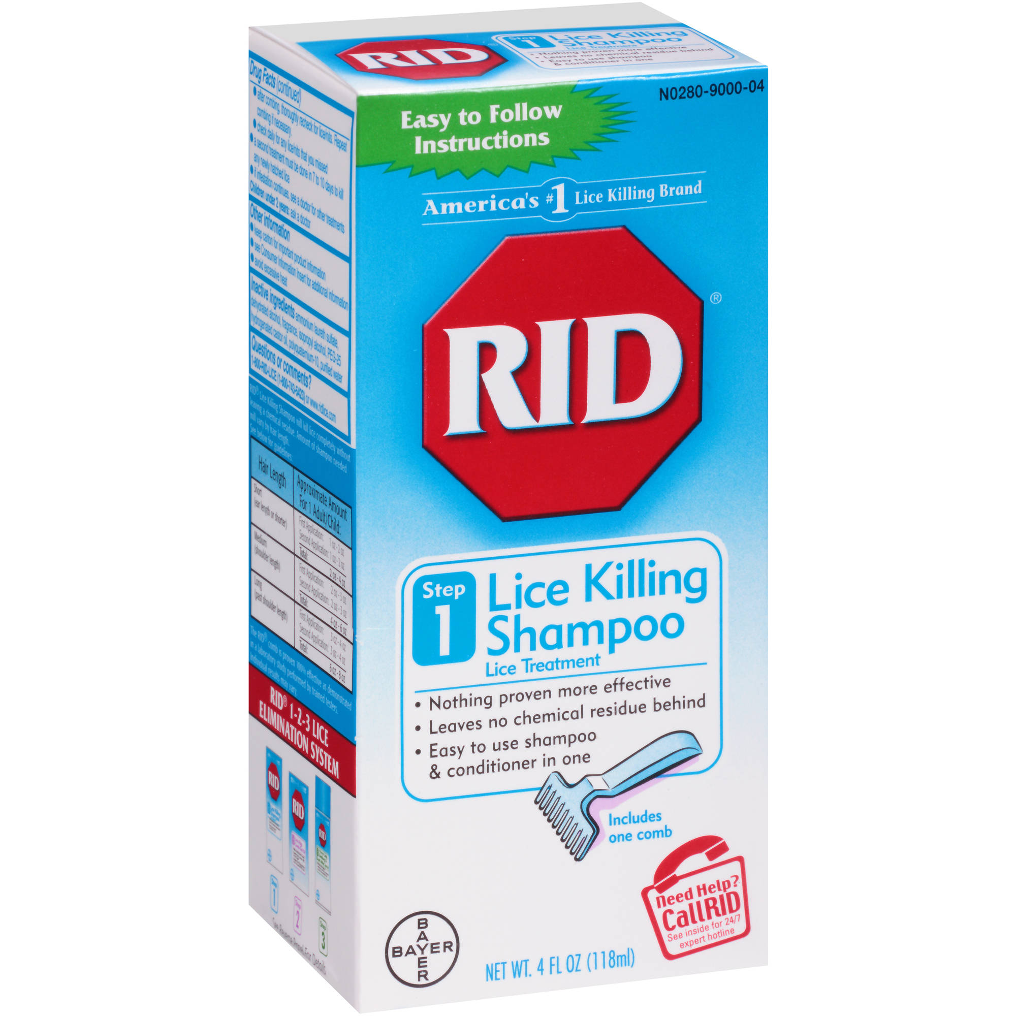 RID Lice Killing Shampoo, 4 fl oz
