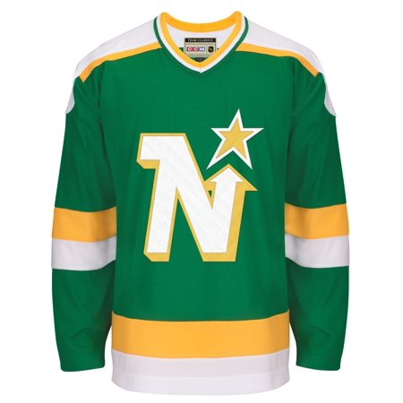 Minnesota North Stars CCM Green Classic Authentic Throwback Team Jersey Men's