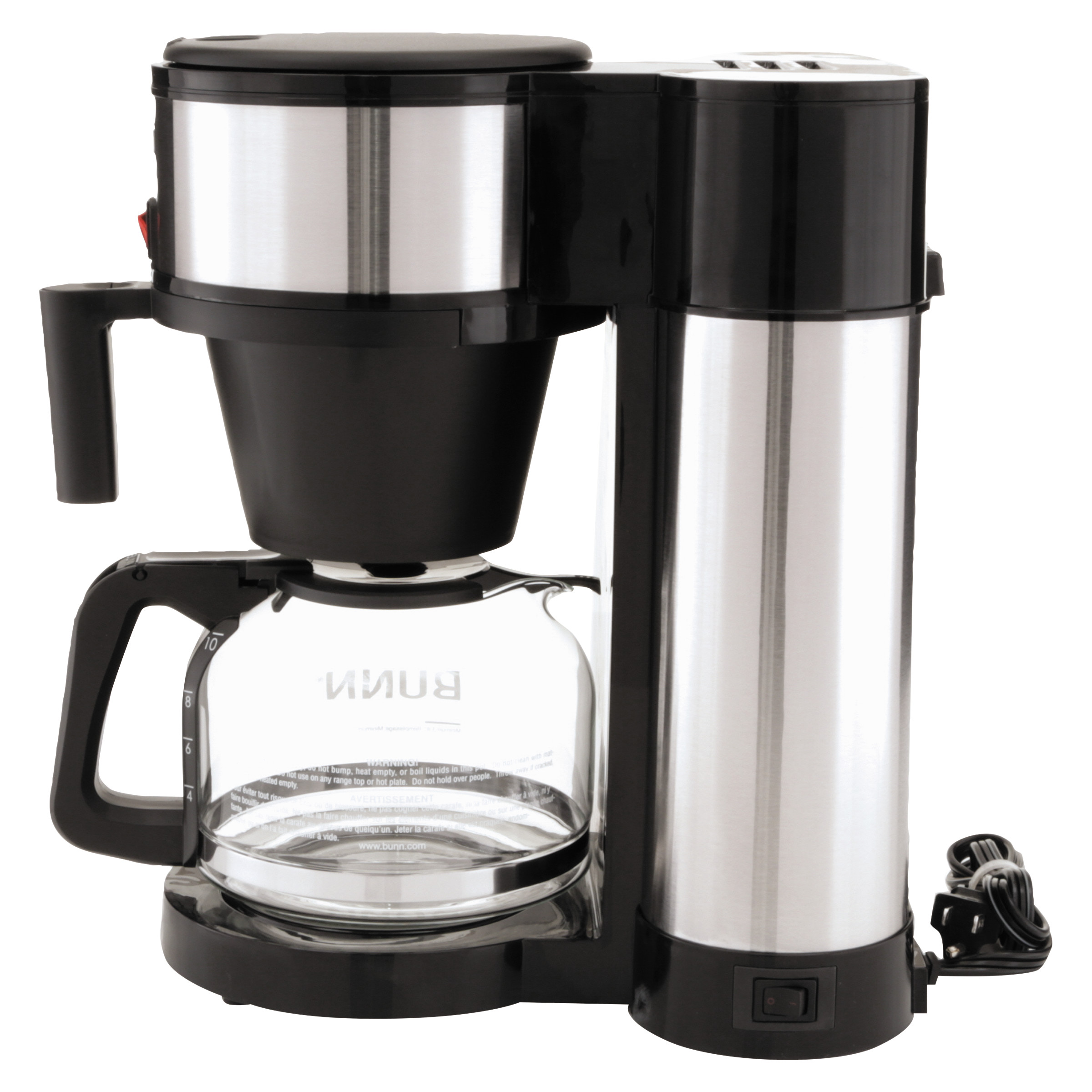 Bunn Coffee Makers. . . Bunn Pouromatic Drip Free Coffee Pot Glass 10 Cup. . Image Is Loading ...