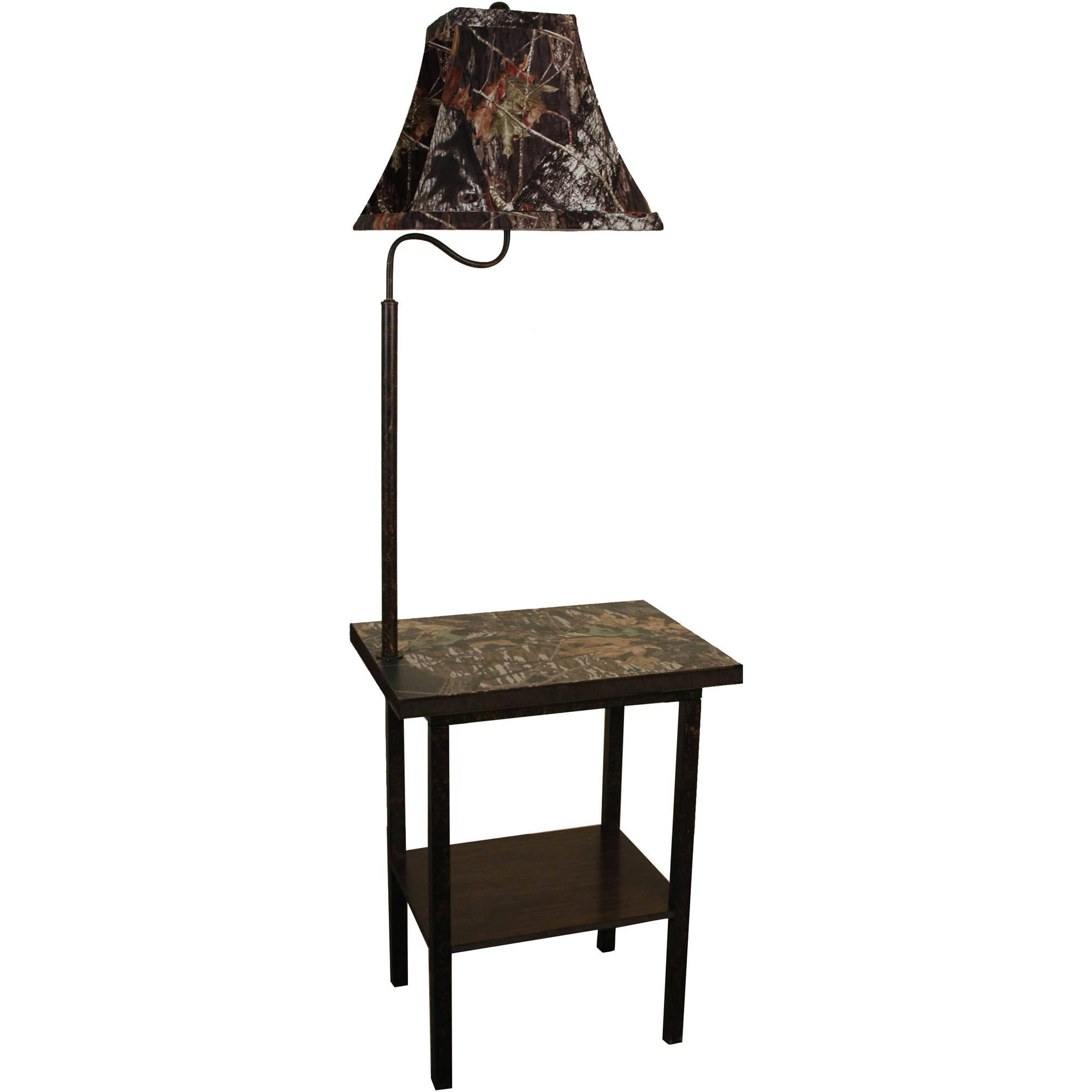 Mossy oak furniture rustic end table top with built in floor lamp details mossy oak furniture rustic end table aloadofball Choice Image