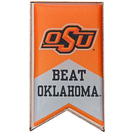 Oklahoma State Cowboys Beat OU Rivalry Banner Pin - Orange - No Size