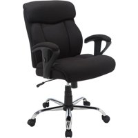 Serta Black Mesh Fabric Big and Tall Manager Chair