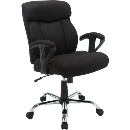 Serta Mesh Fabric Manager Office Chair, Available in Black Fabric and supports up to 300 (Chair Black Tectonic Fabric)