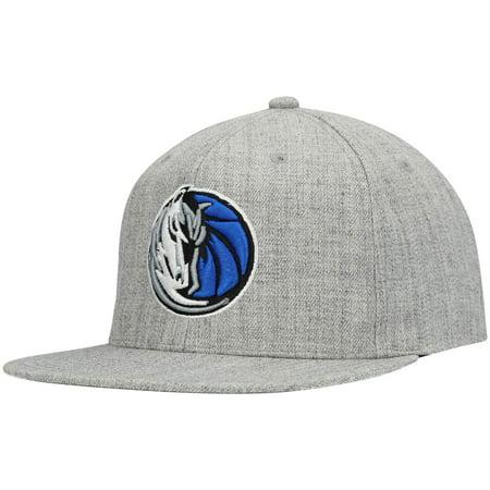 Dallas Mavericks Mitchell & Ness Team Snapback Hat - Heathered Gray - OSFA