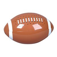 """Inflatable FOOTBALL Beach Ball/INFLATES/POOL PARTY Birthday FAVORS/TOY 16"""" DOZEN/NEW in package"""
