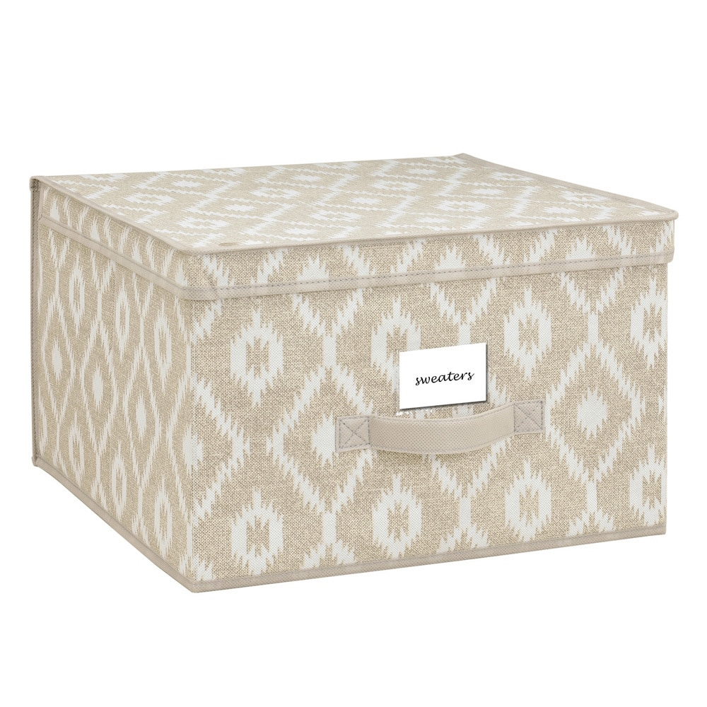 The Macbeth Collection  India Faux Jute Large Storage Box