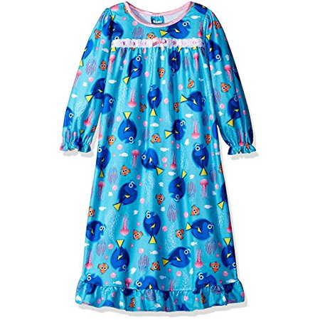 Granny Nightgown (Finding Dory Nemo Girls Flannel Granny Gown Nightgown Pajamas (8, Jellyfish)