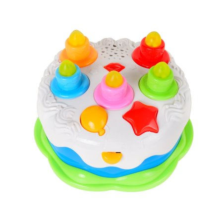 Kids Birthday Cake Toy With Candles Music Pretend Play Food