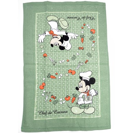 Mickey Mouse Chef Kitchen Dish Towels 2-Piece Set Green - image 1 of 2