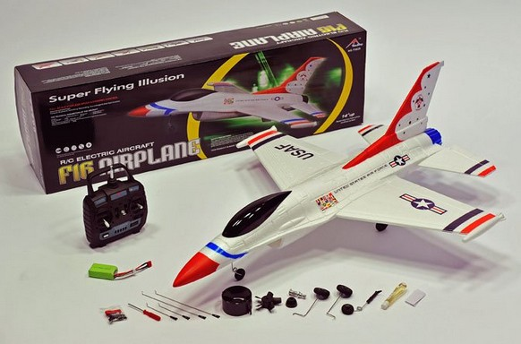 4 CH RC Radio Control F-16 Fighter Plane Jet Fan by TIANCHANG TIANSHENG TOYS CO.,LTD