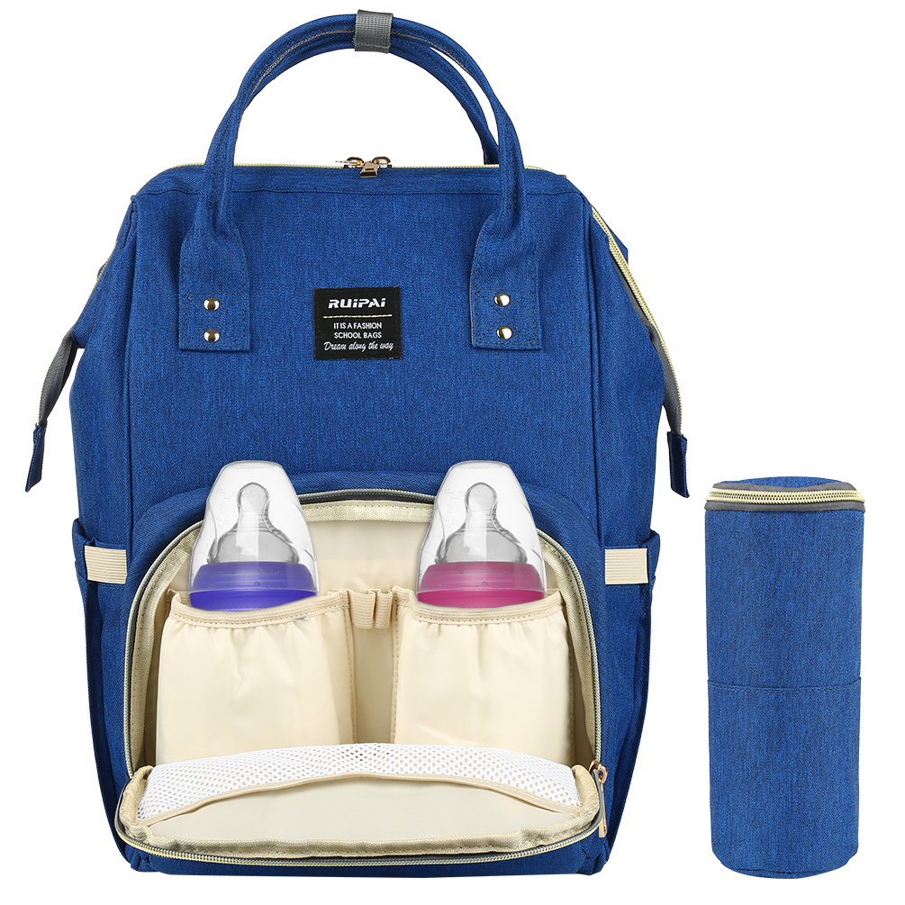 Vbiger Diaper Bag Multifuncation Waterproof Large Capacity Durable Nappy Tote Backpack Unisex