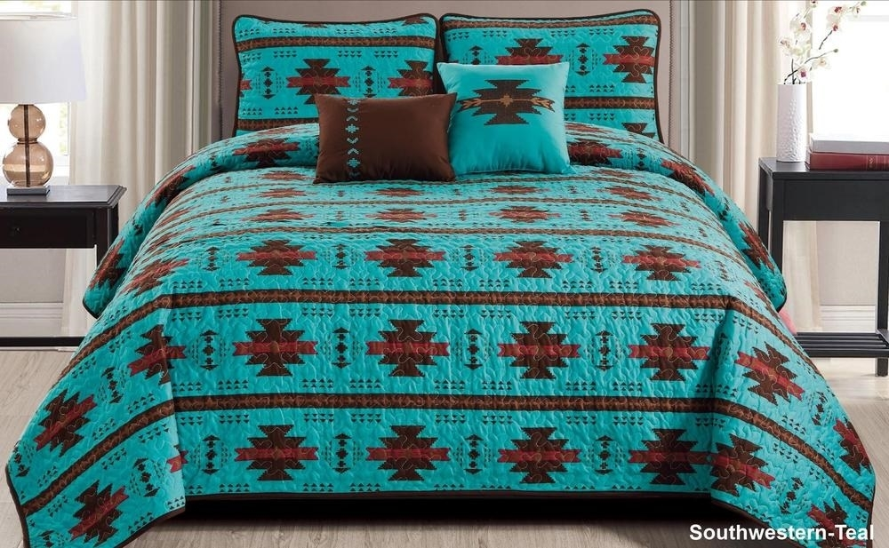 Details about  /Leaves Quilted Bedspread /& Pillow Shams Set Blue Berries Rustic Life Print