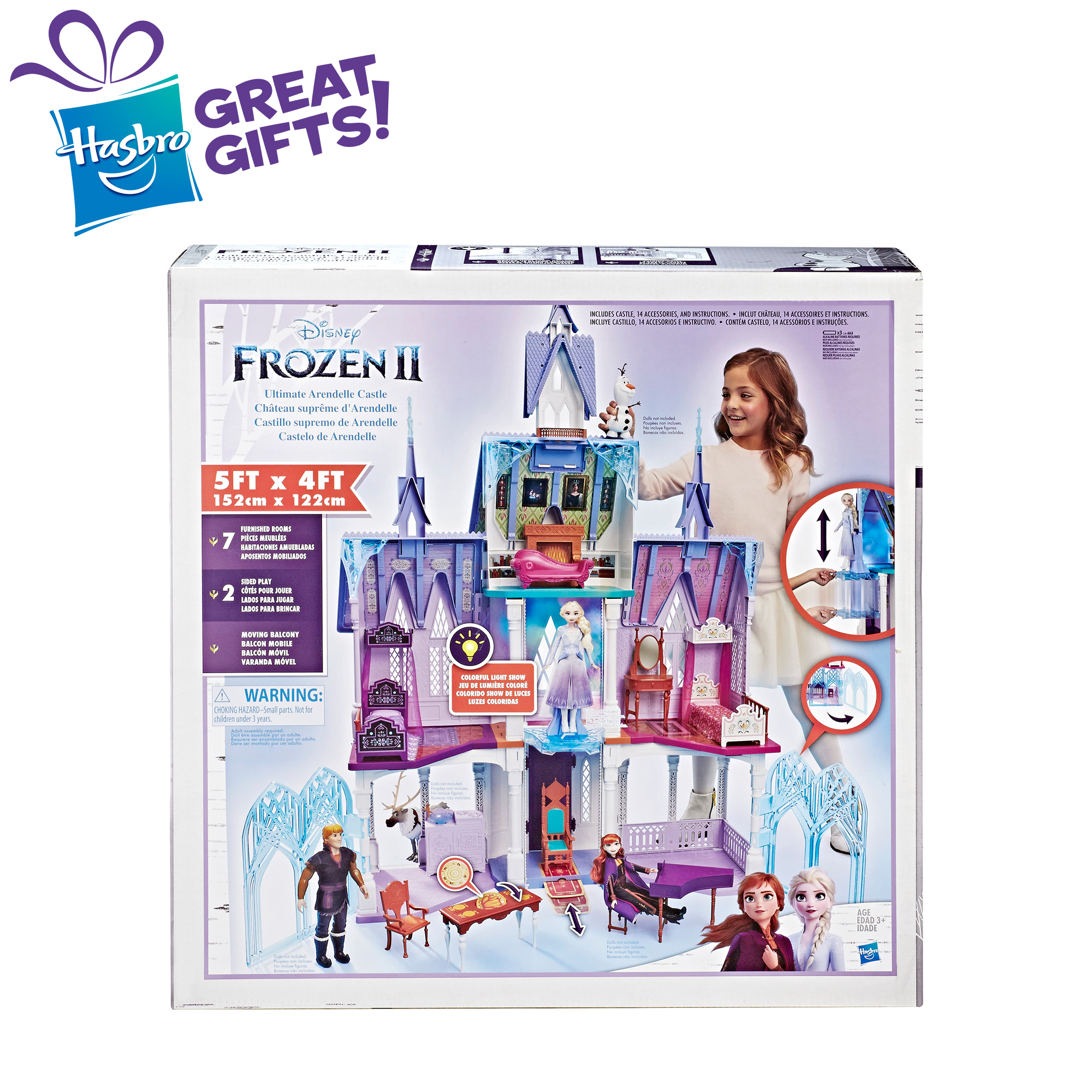 Disney Frozen 2 Ultimate Arendelle Castle Playset With Lights And