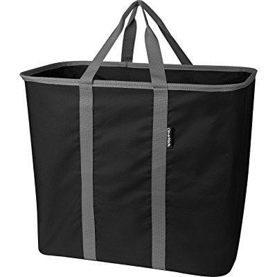 clevermade snapbasket laundrycaddy pop up hamper collapsible laundry basket tote bag black. Black Bedroom Furniture Sets. Home Design Ideas