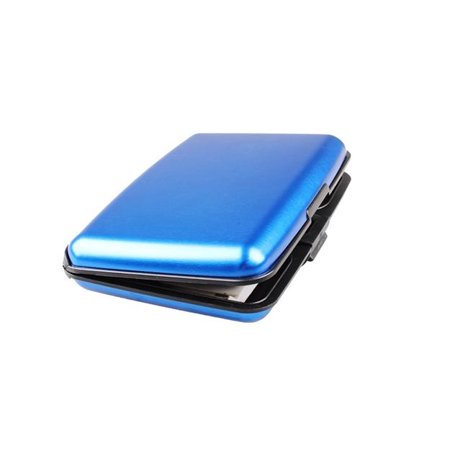 Aluminum Rfid Blocking Credit Card Wallet Case    Blue