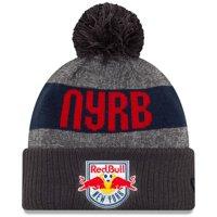 New York Red Bulls New Era 2019 On-Field Cuffed Knit Hat with Pom - Gray/Charcoal - OSFA