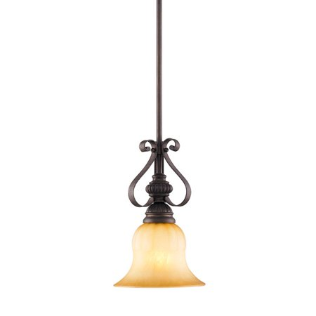 Golden Lighting 7116-M1L Single Light Mini Pendant from the Mayfair Collection Collection Pendant Lighting