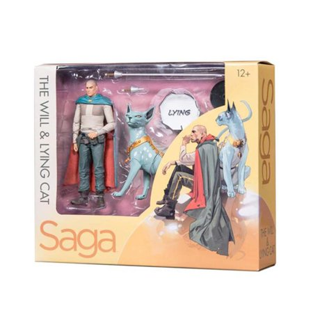 Mcfarlane Saga Skybound Exclusive Will And Lying Cat Figure - Mcfarlane Manga