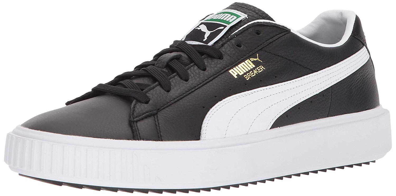 PUMA Men's Breaker Sneaker, Black White