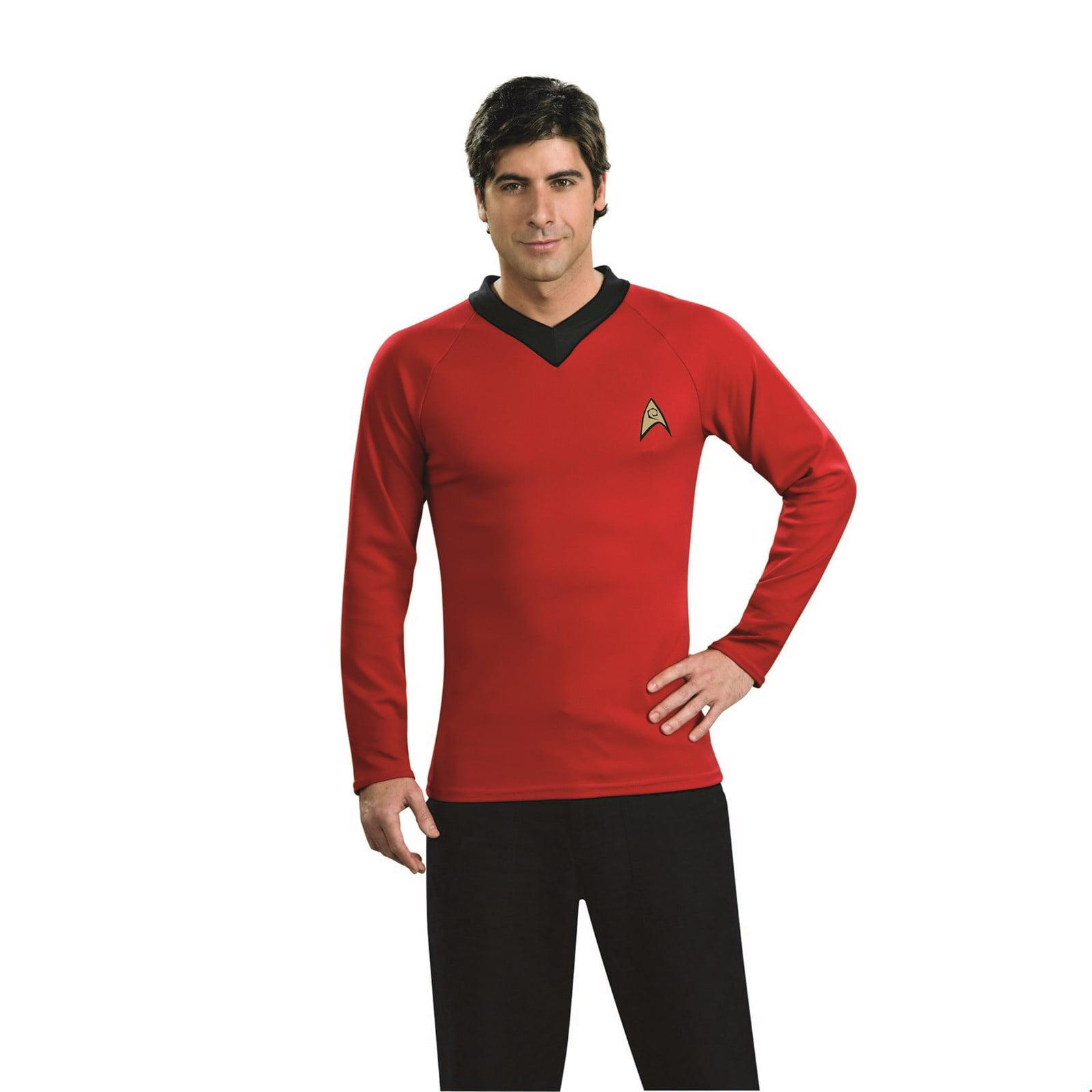 Star Trek Mens Classic Deluxe Blue Shirt Adult M Halloween Costume
