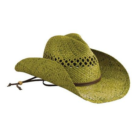 Down Home Fun Raffia Hat - Women's San Diego Hat Company Raffia Cowboy Hat RHC