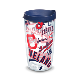 MLB Cleveland Indians All Over 16 oz Tumbler with lid