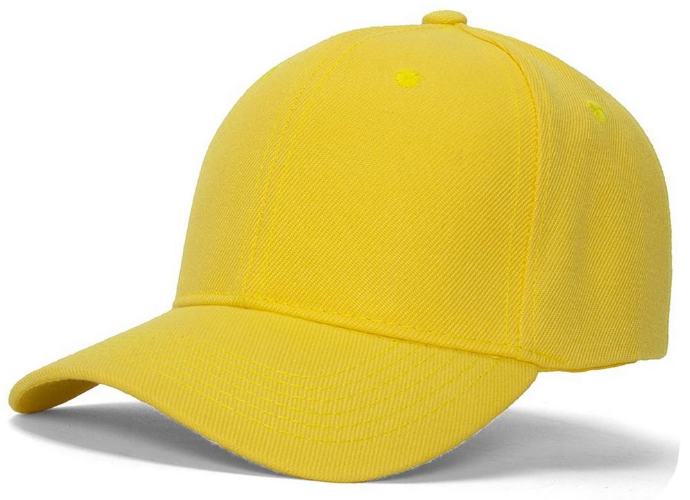 Men's Plain Baseball Cap Velcro Adjustable Curved Visor Hat