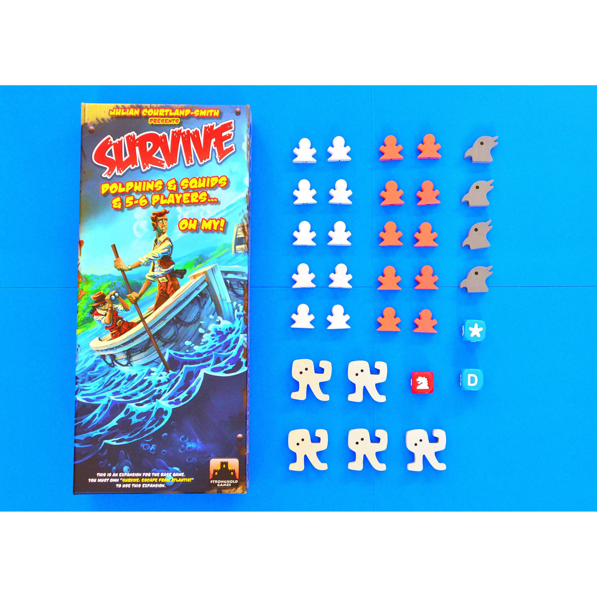 Stronghold Games Survive Dolphins and Dive Dice Mini Expansion Board Game