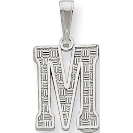 Initial 925 Silver Jewelry Pendant - Leslies Fine Jewelry Designer 925 Sterling Silver Initial M (9to10x25mm) Pendant Gift Box Included