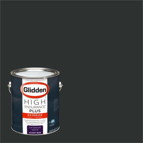 Glidden High Endurance Plus, Exterior Paint, Onyx Black, # 00NN 05/000
