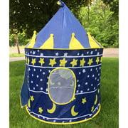"""Zimtown 41.33 x 41.33 x 53.15"""" Portable Fairy Castle Play Tent House Children Kids Blue"""