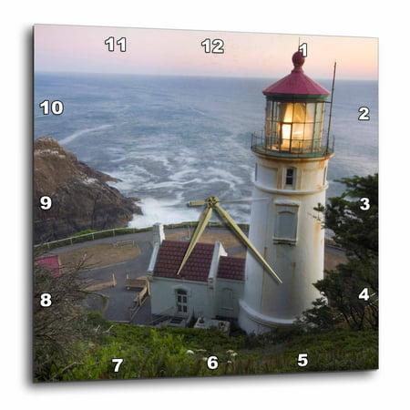 3dRose Haceta Head lighthouse, Oregon, USA - US38 RKL0018 - Raymond Klass, Wall Clock, 13 by 13-inch