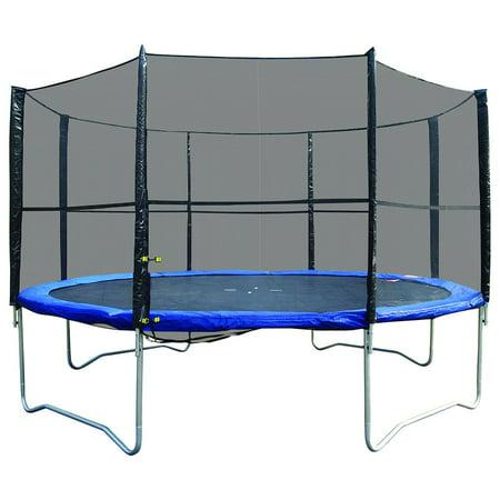 Super Jumper 12-Foot Trampoline, with Enclosure, Blue