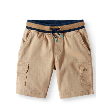 - Rib Waist Cargo Pull On Short (Little Boys, Big Boys, & Husky)