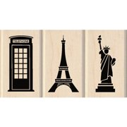 "Inkadinkado Mounted Stamp Set, 3.75"" x 2"", Sightseeing"