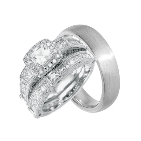 Wedding Rings Cheap.His And Hers Wedding Ring Set Cheap Wedding Bands For Him And Her 9 12