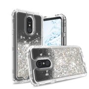 For LG Stylo 5 Case - Wydan Liquid Glitter Bling Heavy Duty Protector Shockproof Armor Phone Cover